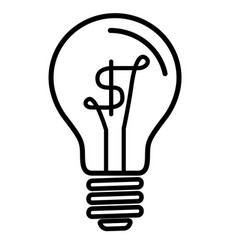 Light bulb lamp with us dollar currency symbol vector