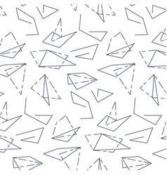 lina art texture triangle modern monochrome vector image
