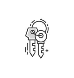 Line keys logo vector