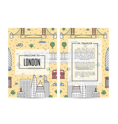 London traveling banners set in linear style vector
