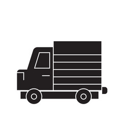 lorry truck black concept icon lorry truck vector image