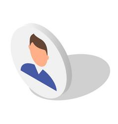 man avatar icon set isometric style vector image