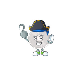 Mascot compact disk as pirate having one hook hand vector