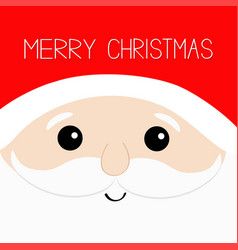Merry christmas santa claus big head face beard vector