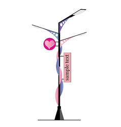 Modern Lamp posts vector image