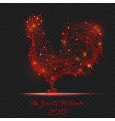 new year rooster on transparent background vector image