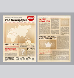 Old newspaper vintage antique paper magazine vector