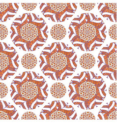 Ornamental arabic pattern autumn background for vector