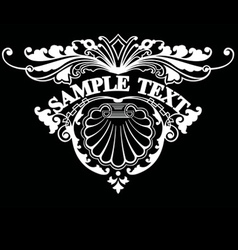 ornate triangle text vector image