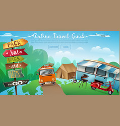 outdoor camping travel banner vector image