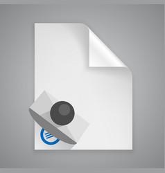 Paper symbol stamp vector