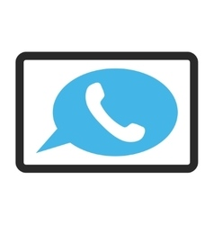 Phone Message Framed Icon vector