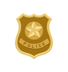 police badge icon isolated on white vector image