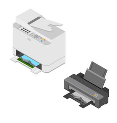 realistic isometric printer vector image