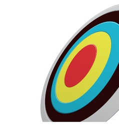Round colour darts target aim with red center vector