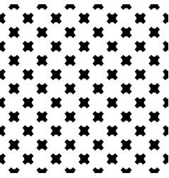 seamless crosses pattern black vector image