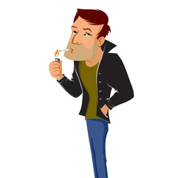 smoking man vector image
