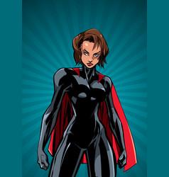 Superheroine battle mode ray light vertical vector