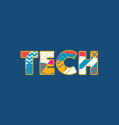 tech concept word art vector image