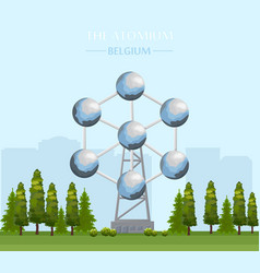 the atomium landmark building in brussels vector image