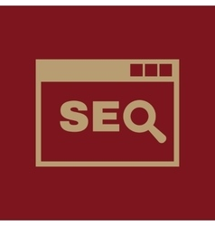The SEO icon WWW and browser development search vector