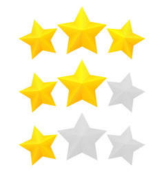three star rating vector image