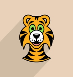 Tiger cartoon face vector image