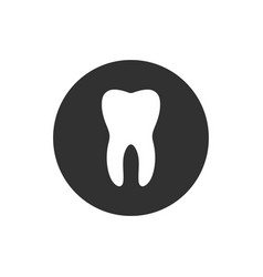 Tooth circle icon flat design style simple vector