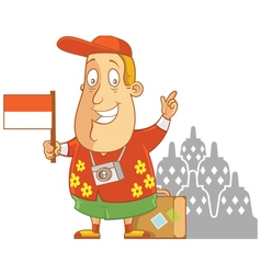Tourist travel indonesia vector