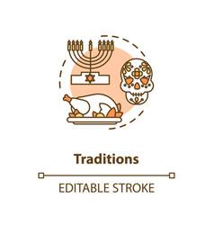 Tradition concept icon vector