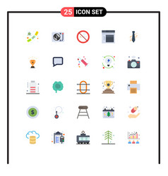 Universal icon symbols group 25 modern flat vector