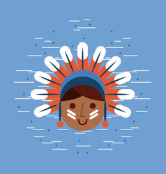 Usa native american image vector