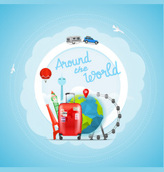 Vacation travelling concept travel vector