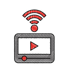 Video player with wifi signal vector
