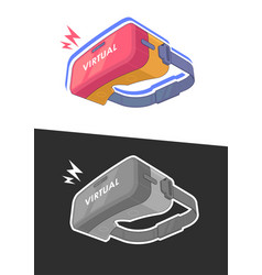vr glasses for a smartphone virtual reality vector image