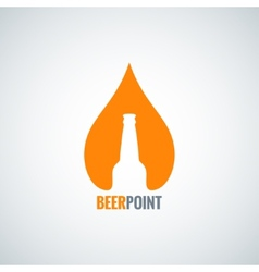 beer bottle drop design background vector image vector image