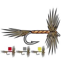 fly fishing flies vector image