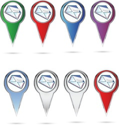 mail pin resize vector image vector image