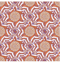 ornamental indian pattern autumn background for vector image vector image