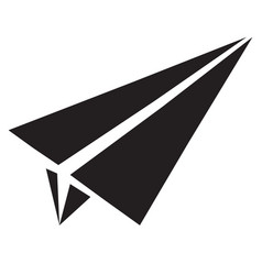 paper airplane flat icon paper airplane sign vector image vector image