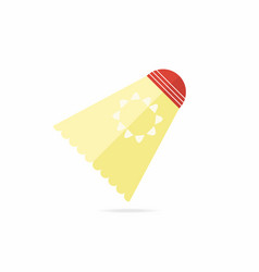 shuttlecock for badminton in flat style vector image