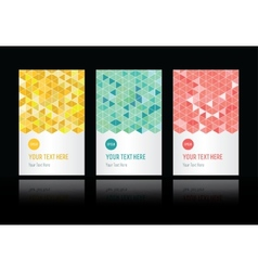 geometric pattern set of cards vector image