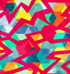 grunge retro mosaic seamless pattern vector image vector image