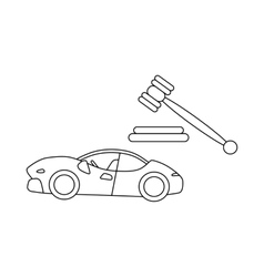 Auction cars icon outline style vector image vector image