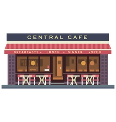 Central cafe building vector image vector image