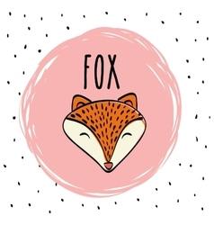 Fox icon design vector image vector image