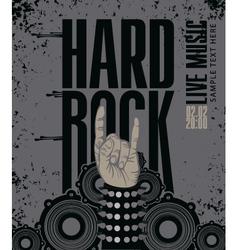 hard rock live vector image