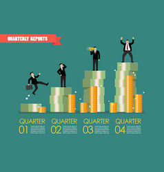 quarterly reports infographic vector image vector image