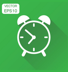 alarm clock icon business concept clock timer vector image