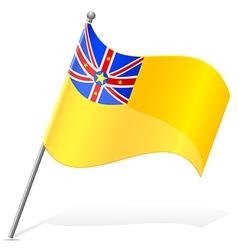 Flag of niuean vector